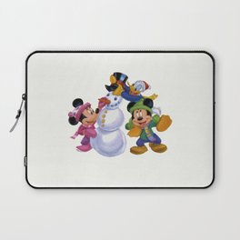Happy Mickey with friends Laptop Sleeve