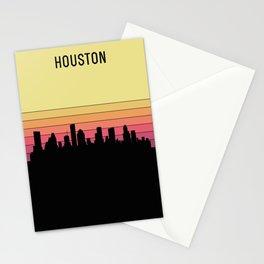 Houston Skyline Stationery Cards