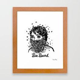 Bee Beard Framed Art Print