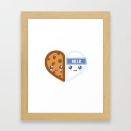 Milk & Cookie Framed Art Print