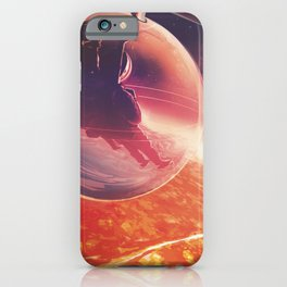 Lava Life in 55 Cancri e, Skies Sparkle Above a Never Ending Ocean of Lava NASA Space Poster iPhone Case