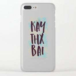 Kai Thx Bai Funny Mandala Zen Mood Clear iPhone Case