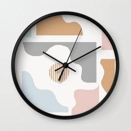 Nikoleta - earthtone art print, earthtones, minimalist, minimal art print, abstract art print, Wall Clock
