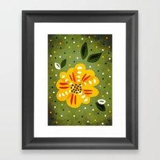 Abstract Yellow Primrose Flower Framed Art Print