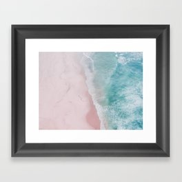 ocean walk Framed Art Print