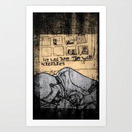 To tame the wild creatures Art Print
