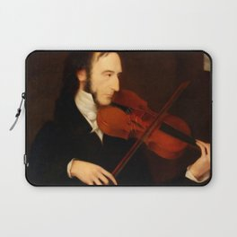 Niccolò Paganini by Daniel Maclise (1831) Laptop Sleeve