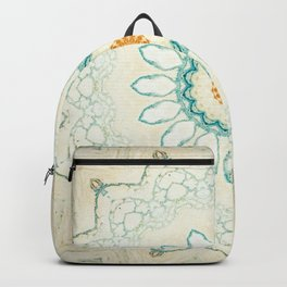 Pastel Yellow Baby Blue Mandala Backpack