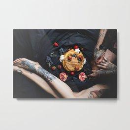 tattoo and cake Metal Print