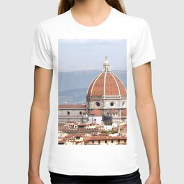 Florence cathedral dome photography T-shirt