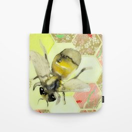 Pink and Gold Honeycomb III Tote Bag