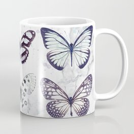 Black and white marble butterflies Coffee Mug