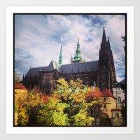 prague Art Prints featuring Prague by Lucie Démon