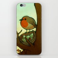 robin iPhone & iPod Skins featuring Robin by loish