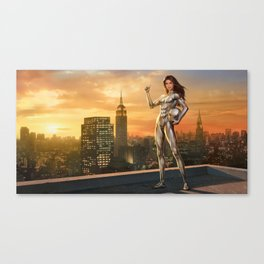 The Silver Ninja II poster Canvas Print