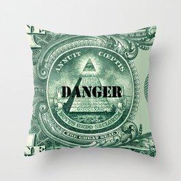danger dollar Throw Pillow