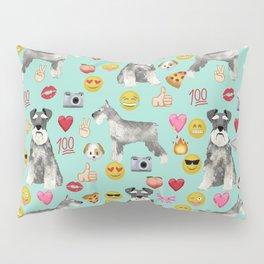 schnauzer emoji dog breed pattern Pillow Sham