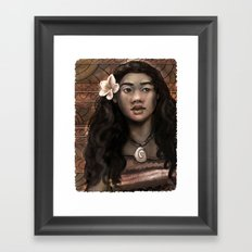 MOANA: Wahine nani Framed Art Print
