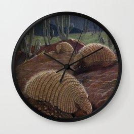 Vintage Armadillo Painting (1909) Wall Clock