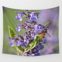 bee Wall Tapestries featuring Bee by Stecker Photographie