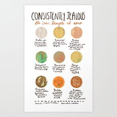 The Inner Thoughts of Soup Art Print