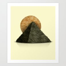 Hair in desert Art Print