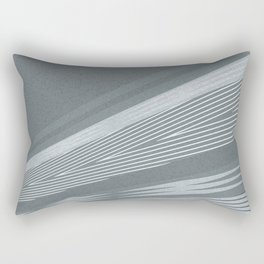 Abstract asymmetrical pattern in shades of gray . Rectangular Pillow