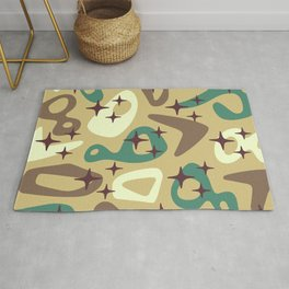 Retro Mid Century Modern Abstract Composition 940 Rug