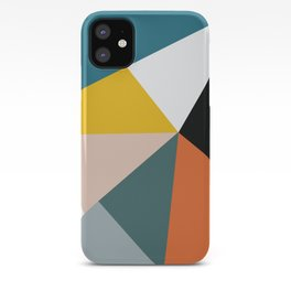 Triangles abstract colorful art iPhone Case