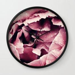 Pink Peony Macro Photography Spring Flowers Wall Clock