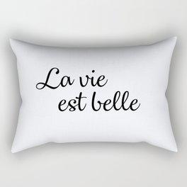 110. Life is beautiful Rectangular Pillow