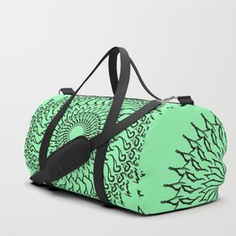 Green mandala Duffle Bag