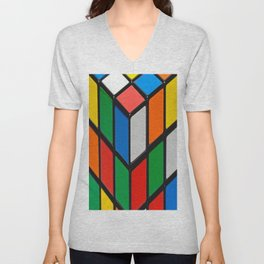 Colorful Cubes Unisex V-Neck