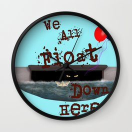 We All Float Wall Clock
