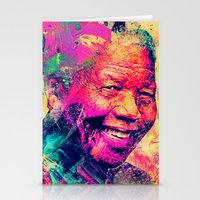 mandela Stationery Cards featuring Mandela by Alexandre Perotto