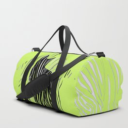 Black House Cat on Grass Duffle Bag