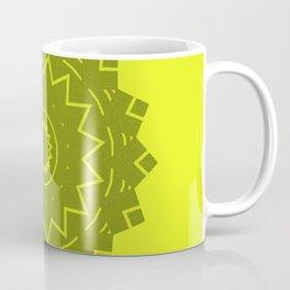 Yellow with grey Mandala Coffee Mug