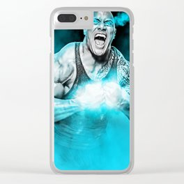 """Dwayne """"The Rock"""" Johnson Clear iPhone Case"""