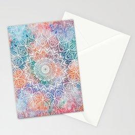 Leaves Mandala Stationery Cards
