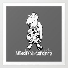 LA MADRE DEL CORDERO (aka THE LAMB'S MOTHER) Art Print