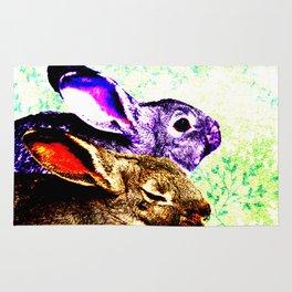 Two Rabbits Rug