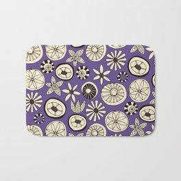 summer flowers purple Bath Mat