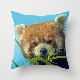 RED PANDA LOVE Throw Pillow