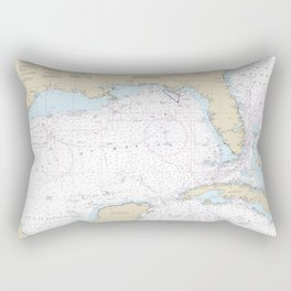 Gulf of Mexico Authentic Nautical Chart No. 411 Rectangular Pillow