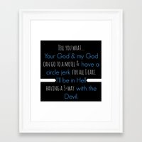 true blood Framed Art Prints featuring True Blood - Pam Quote by macnicolae