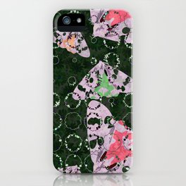 Flowers and Moths iPhone Case