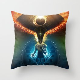 Lucid Synchronized Dimensionalism Throw Pillow