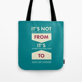 Godard (The quotes series) Tote Bag