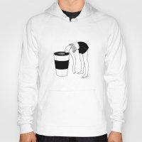 coffee Hoodies featuring Coffee, First by Henn Kim