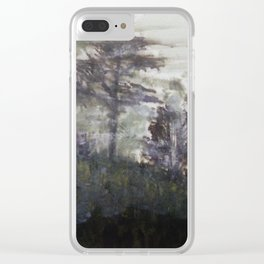 Foggy Field Clear iPhone Case